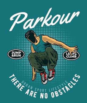 Parkour stedelijke atleet