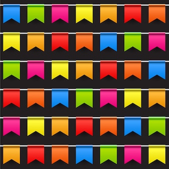 Partij achtergrond met vlaggen naadloze patroon vectorillustratie. eps10