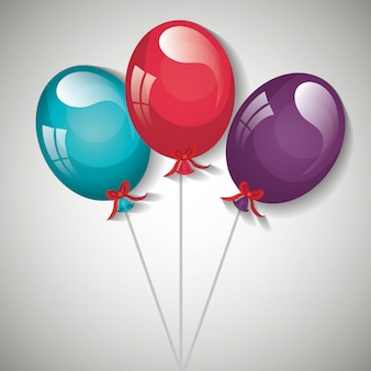 Partij ballonnen ontwerp