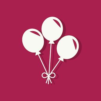 Partij ballonnen valentijnsdag pictogram