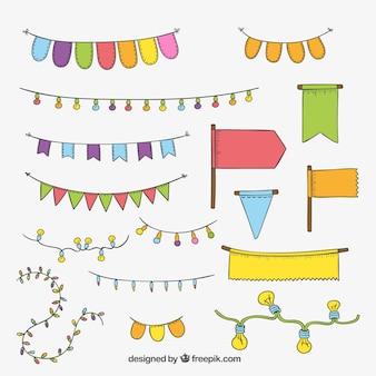 Partij decoratieve elementen
