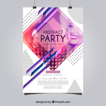 Partij poster sjabloon met abstracte stijl