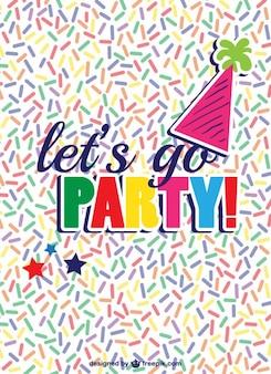Partij uitnodiging vector