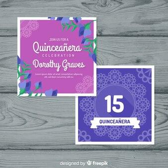Partijkaart voor tafelkleed quinceanera
