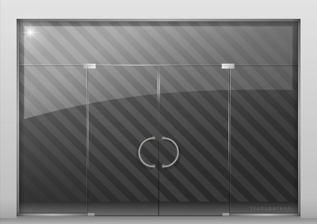 Partitie met glazen deur