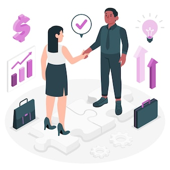 Partnerschap concept illustratie