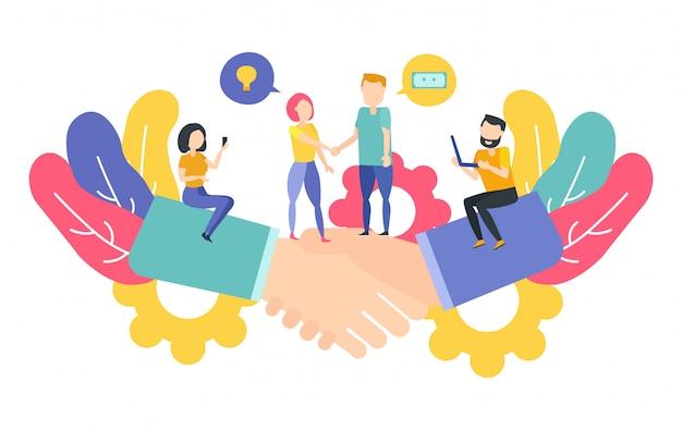 Partnerschap concept
