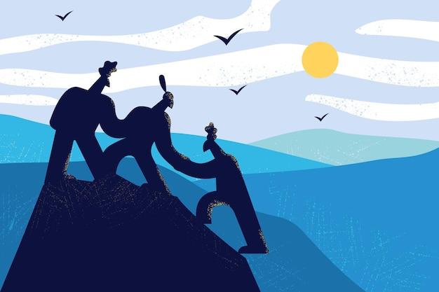Partnerschap, zakelijk team en ondersteuningsconcept