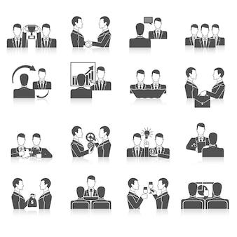 Partnership icons set