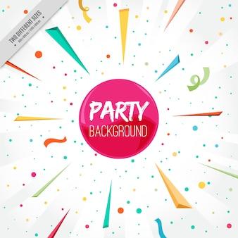 Party confettienachtergrond