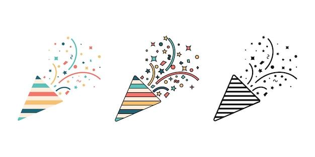 Party cracker pictogram eenvoudig ontwerp