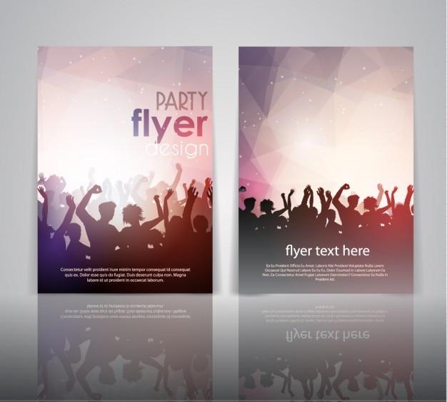 Party flyer design Gratis Vector