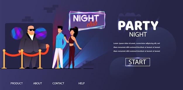 Party night bouncer face control man en vrouw