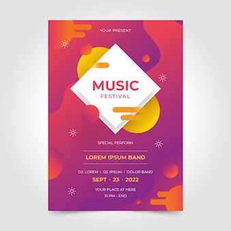 Party poster abstract ontwerp