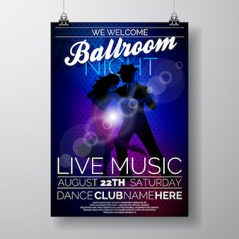 Party poster template ontwerp