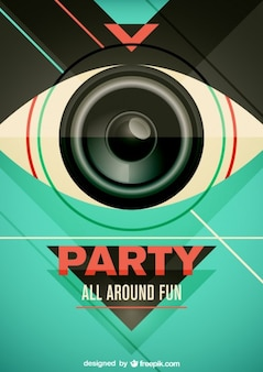 Party vector poster