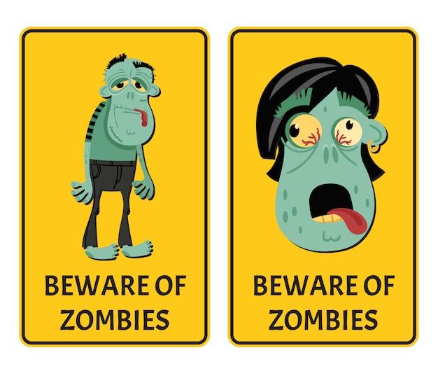 Pas op voor zombies label set