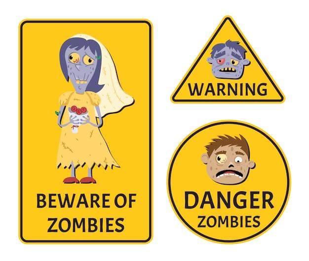 Pas op voor zombies waarschuwingsstickers ingesteld