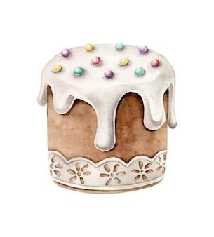 Pasen cake.traditionele kulich.paska pasen-brood