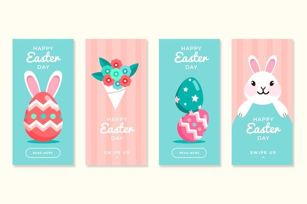 Pasen-dag instagram verhaleninzameling met konijntje