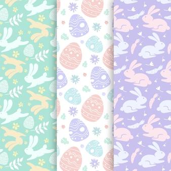 Pasen-hand getrokken patroon met pastelkleurig ontwerp