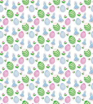 Pasen naadloze patroon in roze kleuren. pasen-symbolenvormen. bewerkbaar patroon in stalen.