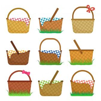 Pasen of picknickmanden. illustratie
