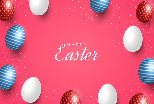 Pasen-wenskaart met eieren