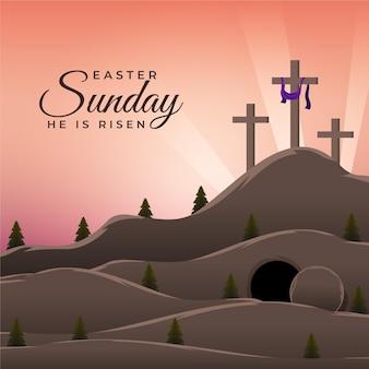 Pasen zondag illustratie