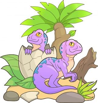 Pasgeboren dinosaurussen