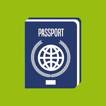 Paspoort document geïsoleerd pictogram