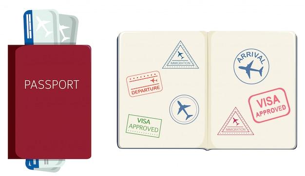 Paspoort en instapkaart