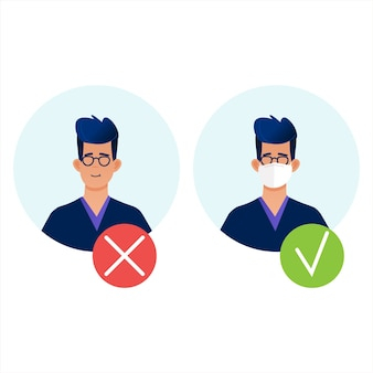 Passage alleen in masker, zonder maskertoegang verboden.