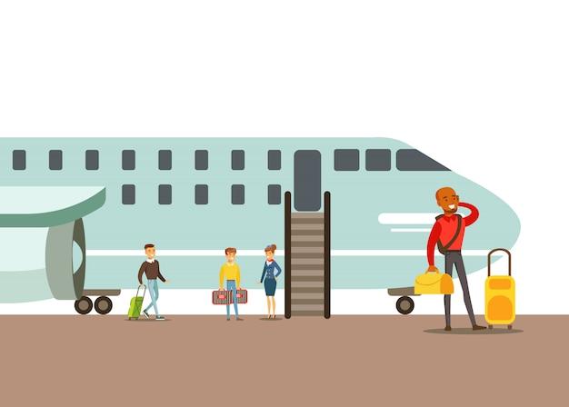 Passagiers aan boord van een vliegtuig