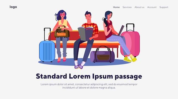 Passagiers op de luchthaven