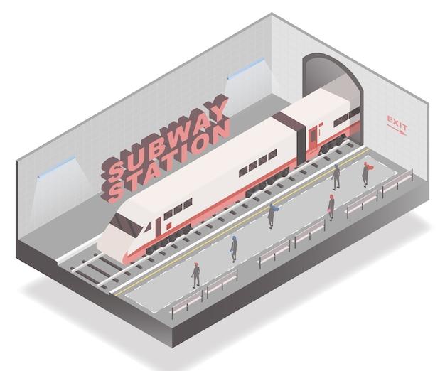 Passagiers wachten op metrostation