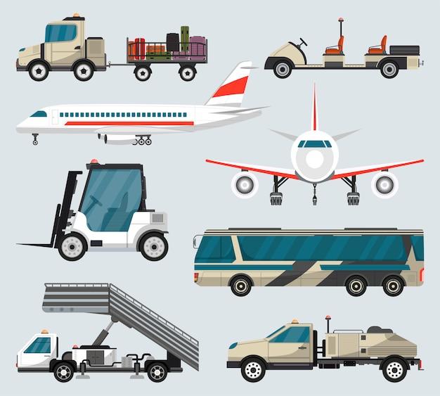 Passenger luchthaven grond technieken geïsoleerde set