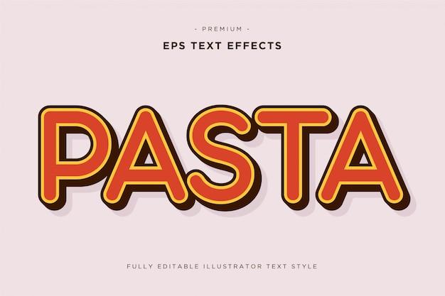 Pasta 3d tekst effect
