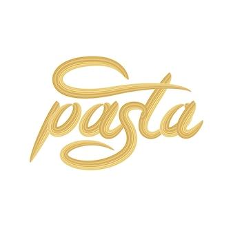 Pasta belettering logo ontwerp