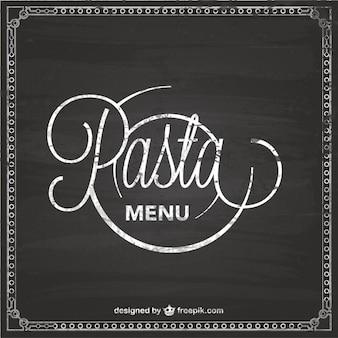 Pasta menu chalckboard template