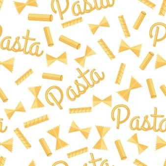 Pasta naadloze patroon geïsoleerd op wit