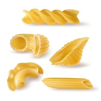Pasta soorten en vormen realistisch