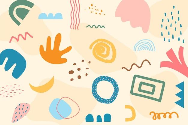 Pastel abstracte vormen achtergrond