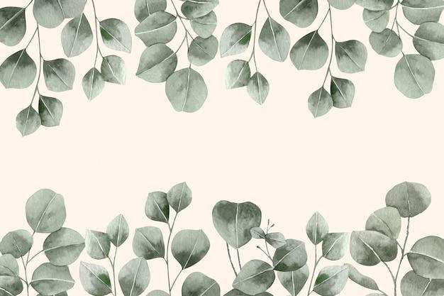 Pastel achtergrond met bladeren