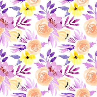 Pastel aquarel bloemen naadloze patroon