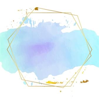 Pastel aquarel met gouden frame