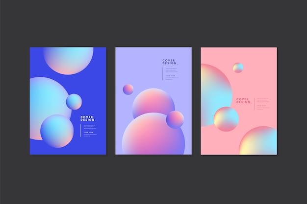 Pastel blauwe en roze bubbels covers