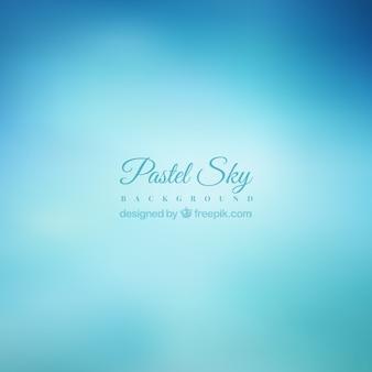 Pastel blauwe hemel achtergrond in blur effect