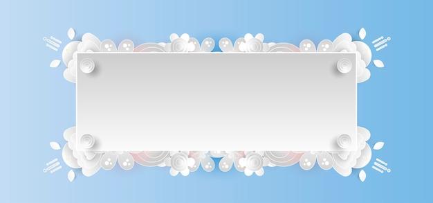 Pastel bloemen frame