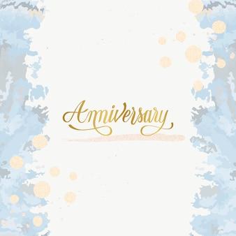 Pastel bruiloft verjaardag kaart vector
